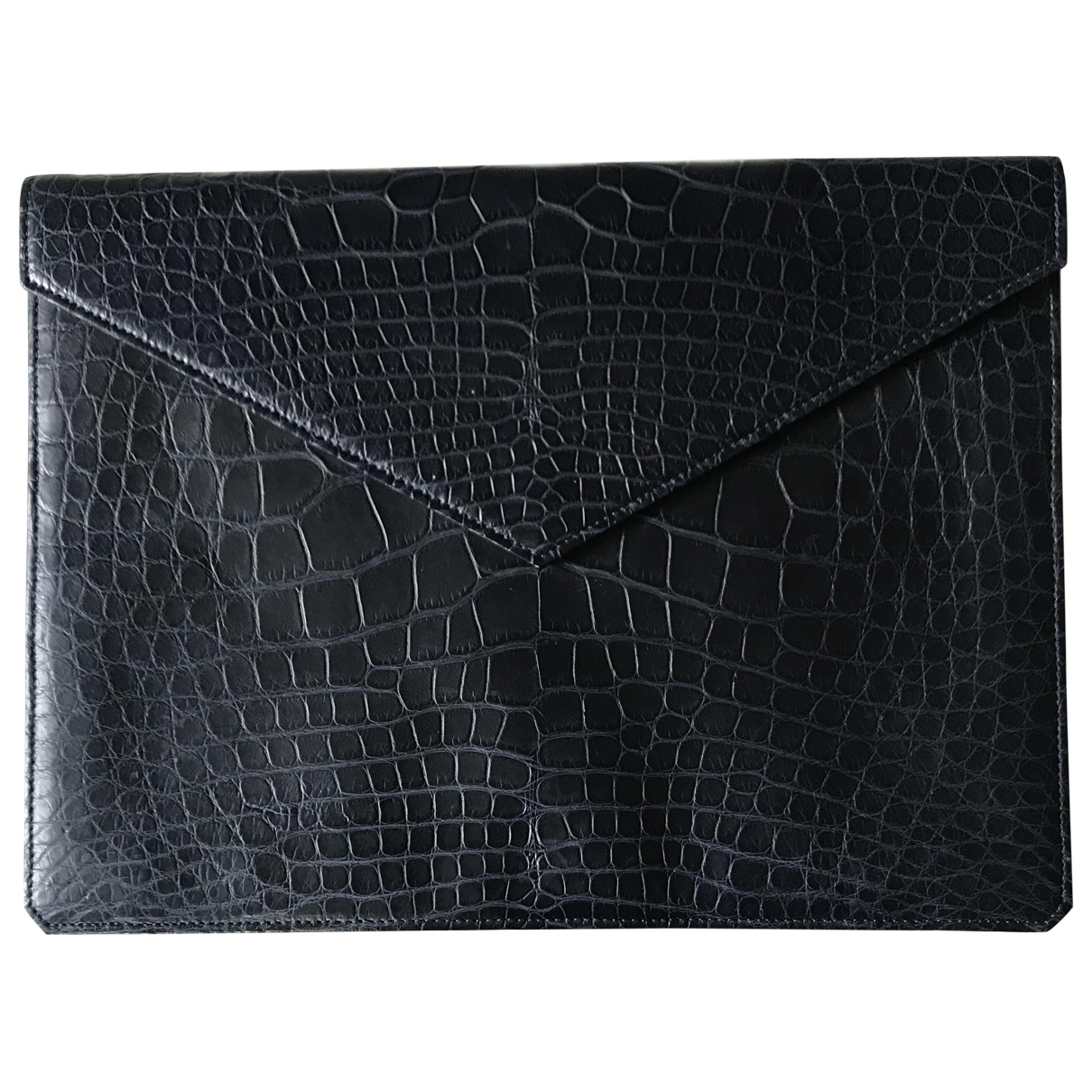 Armani Collezioni \N Blue Leather Small bag, wallet & cases for Men \N