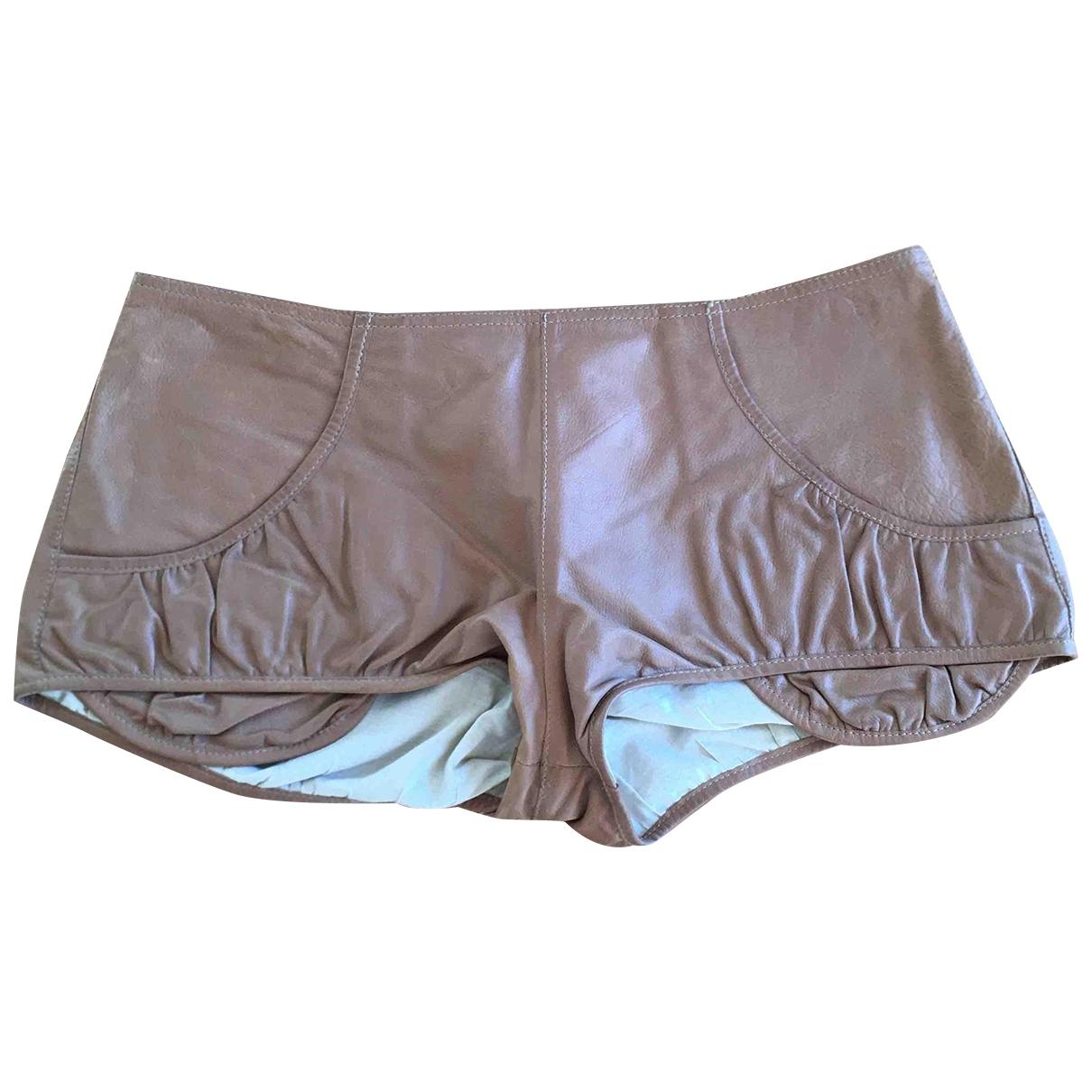 Marni \N Shorts in  Beige Leder
