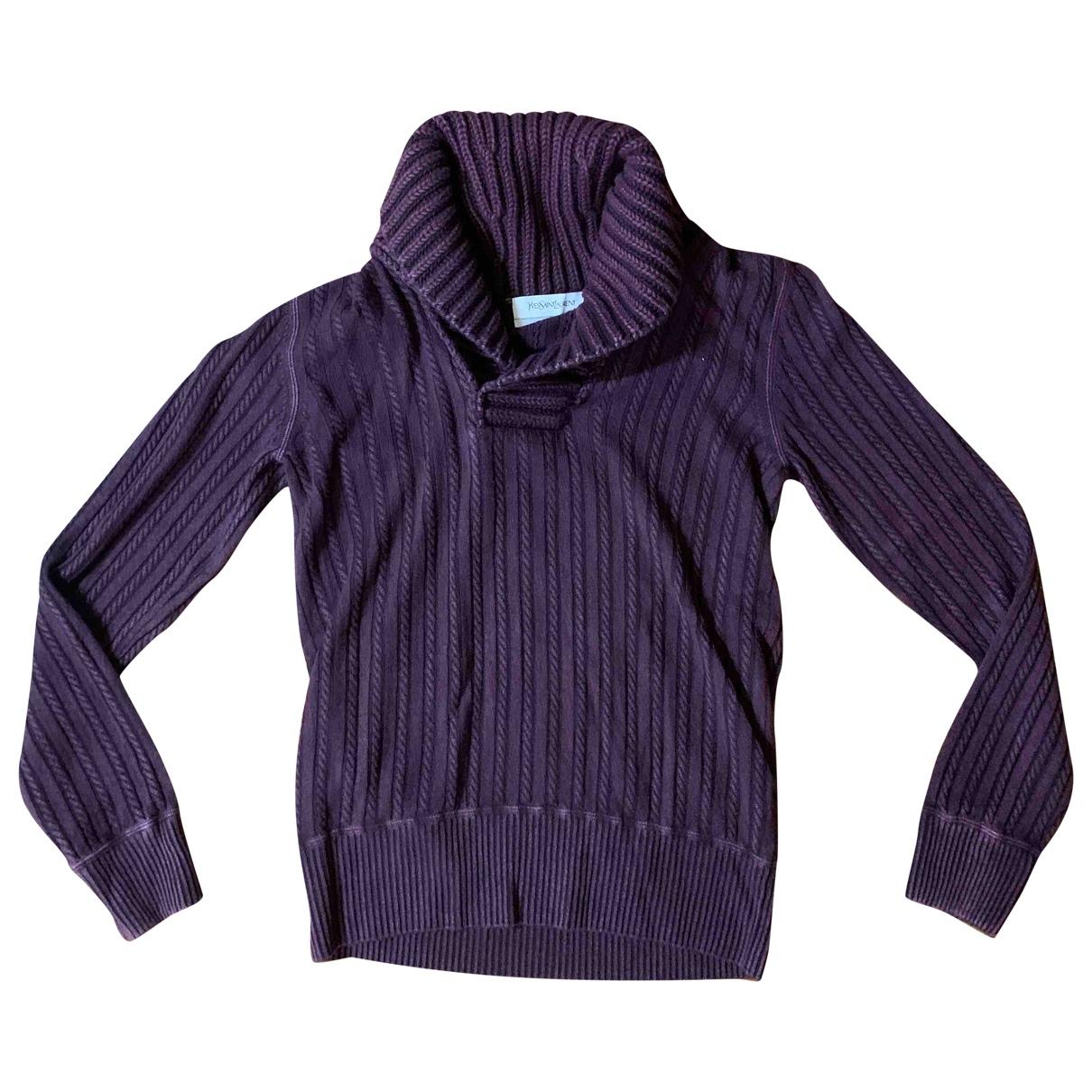 Yves Saint Laurent - Pull   pour femme en cachemire - violet