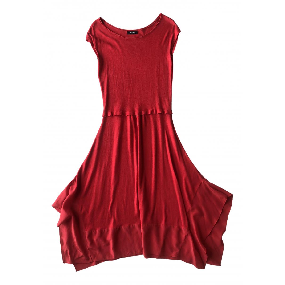 Max & Co - Robe   pour femme en coton - elasthane - rouge