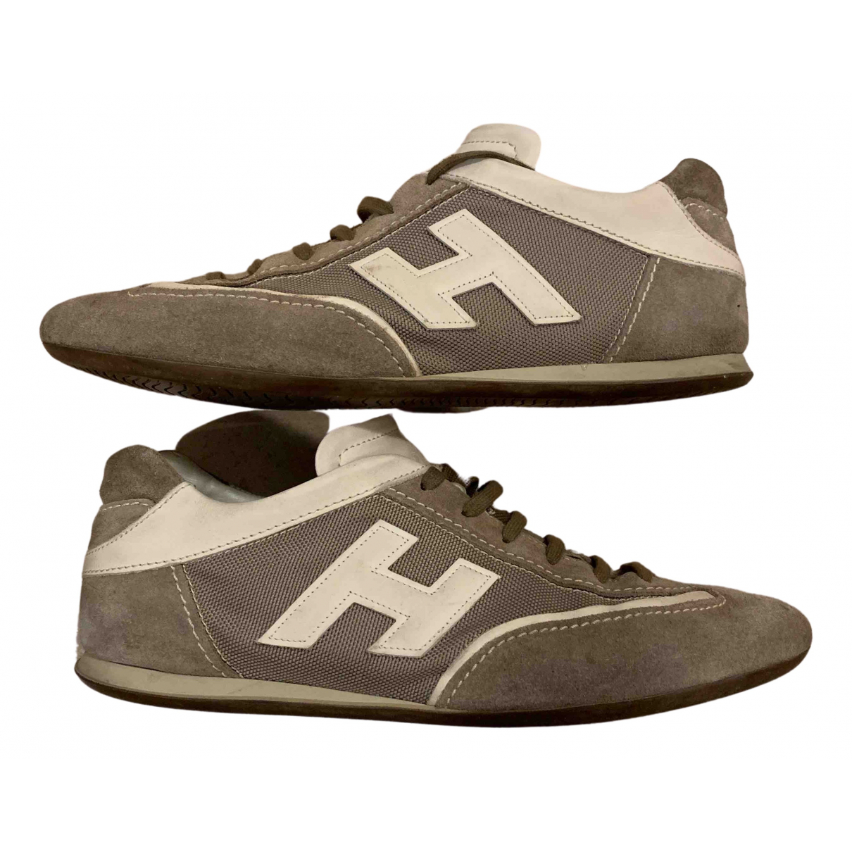Hogan N Beige Leather Trainers for Men 9 US