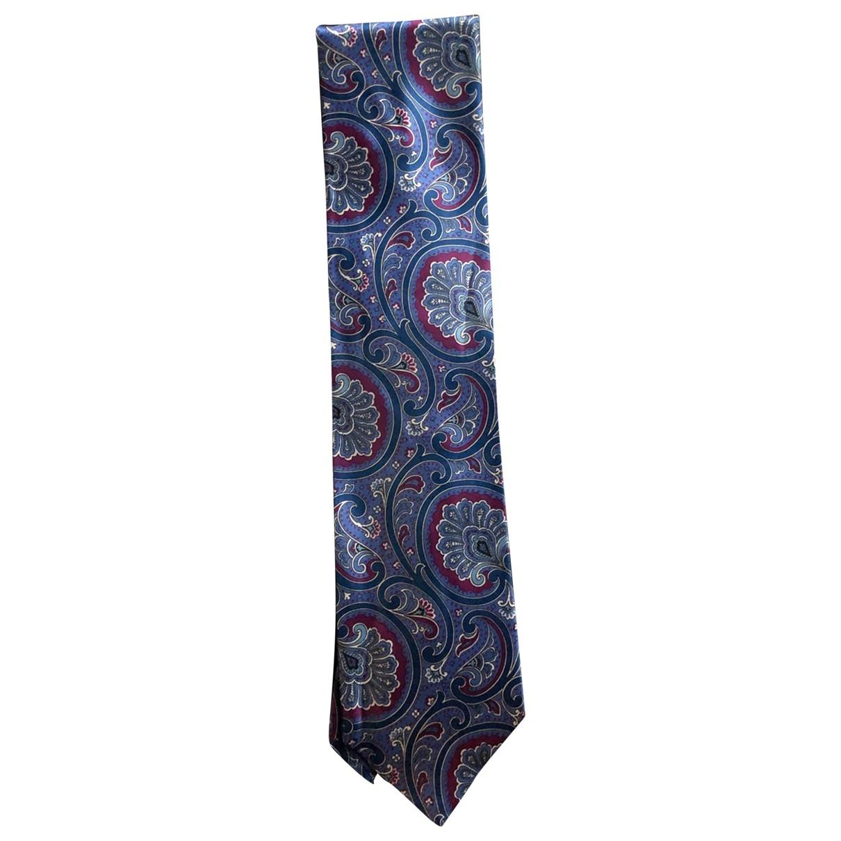 Brioni \N Purple Silk Ties for Men \N
