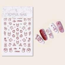1sheet Christmas Pattern Nail Art Sticker