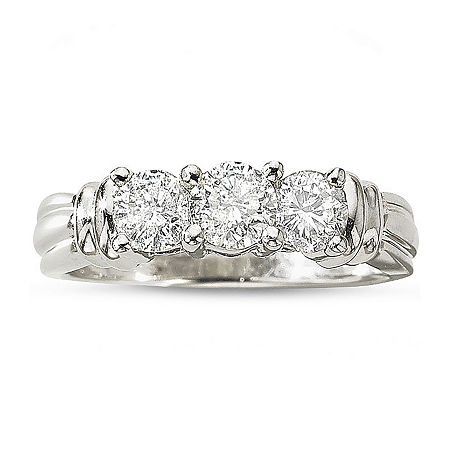 Love Lives Forever 1 CT. T.W. Diamond 3-Stone Ring, 8 , No Color Family