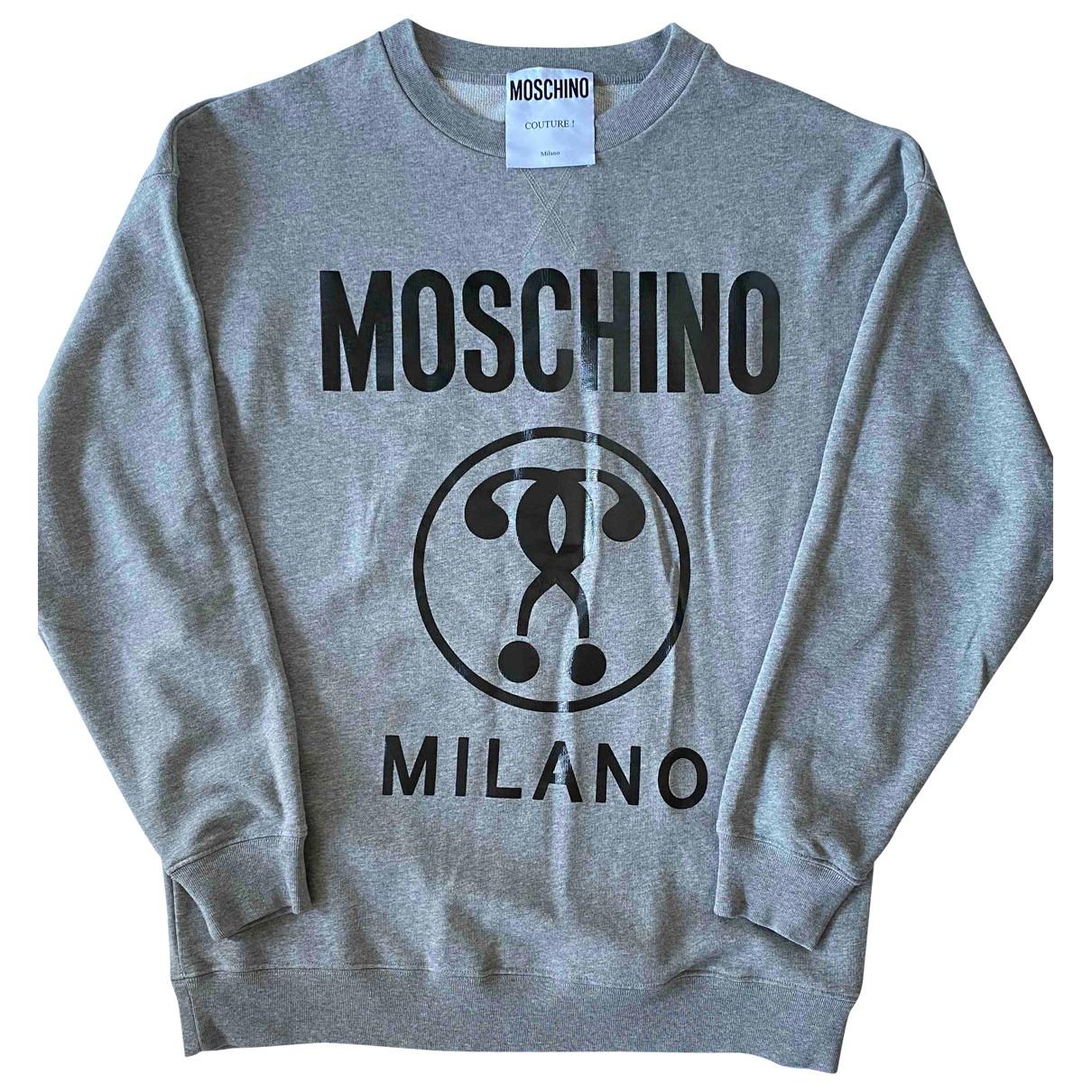 Moschino \N Pullover.Westen.Sweatshirts  in  Grau Baumwolle