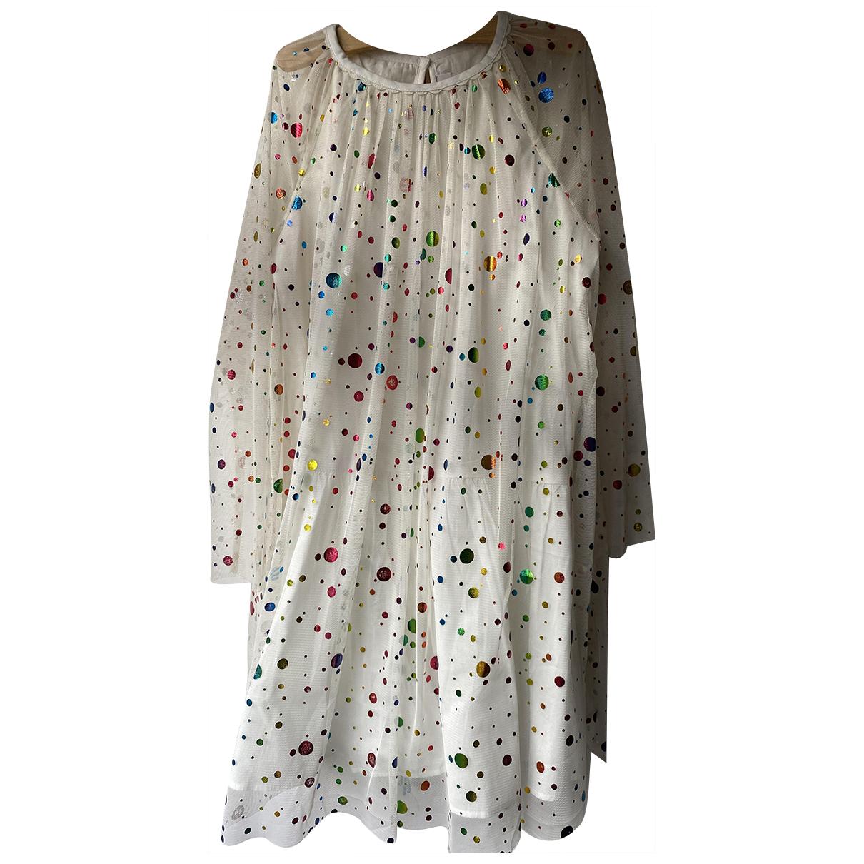 Stella Mccartney - Robe    pour enfant en a paillettes - blanc