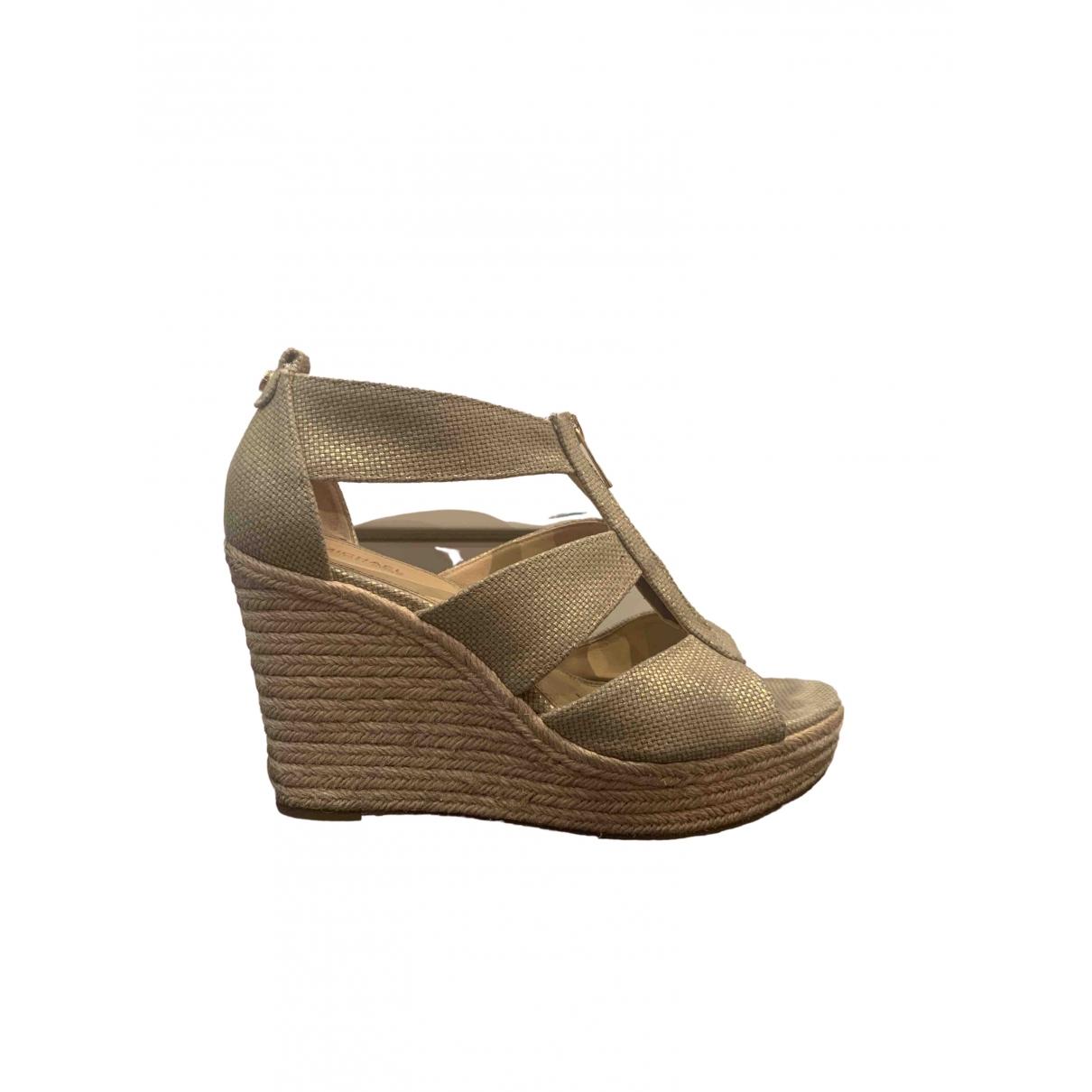 Michael Kors \N Gold Cloth Sandals for Women 9 US