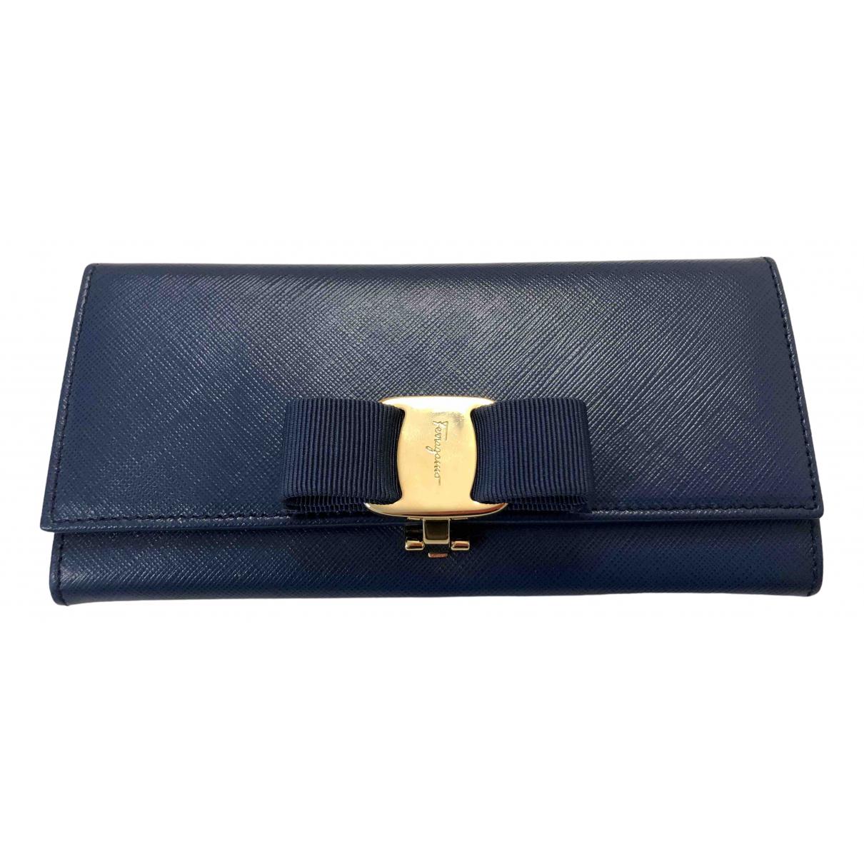 Salvatore Ferragamo \N Blue Leather wallet for Women \N