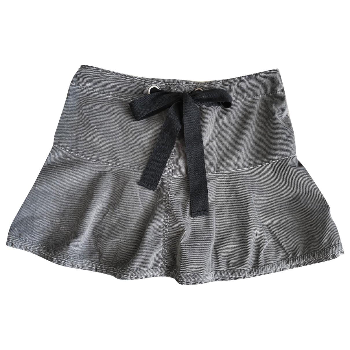 Diesel - Jupe   pour femme en coton - gris