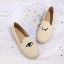 Eyes Embroidered Espadrille Loafers