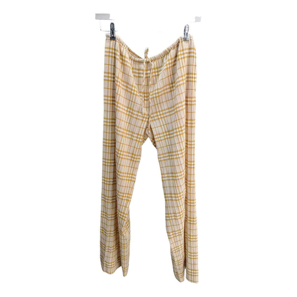 Samsoe & Samsoe N Beige Trousers for Women XS International