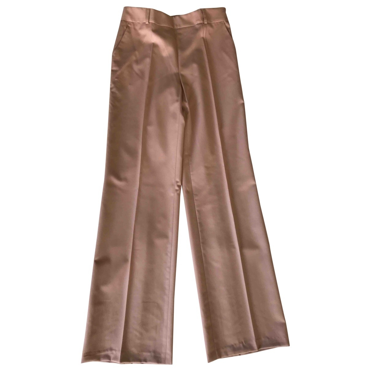 Adolfo Dominguez \N Pink Wool Trousers for Women 40 FR