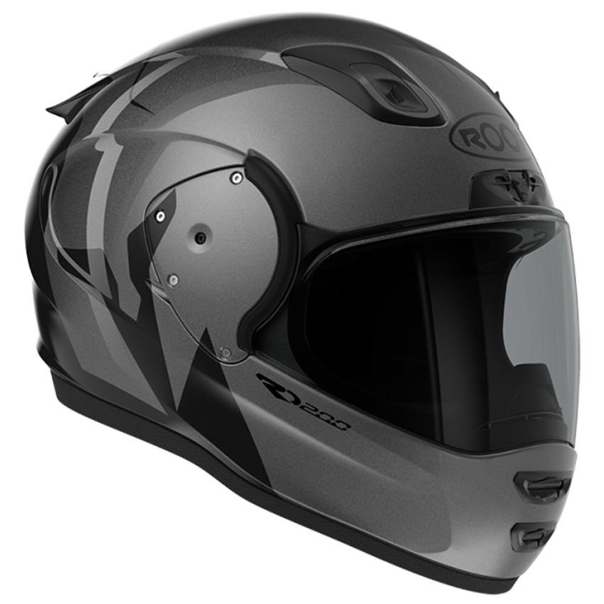ROOF RO200 Troyan Black Steel Full Face Helmet 2XL