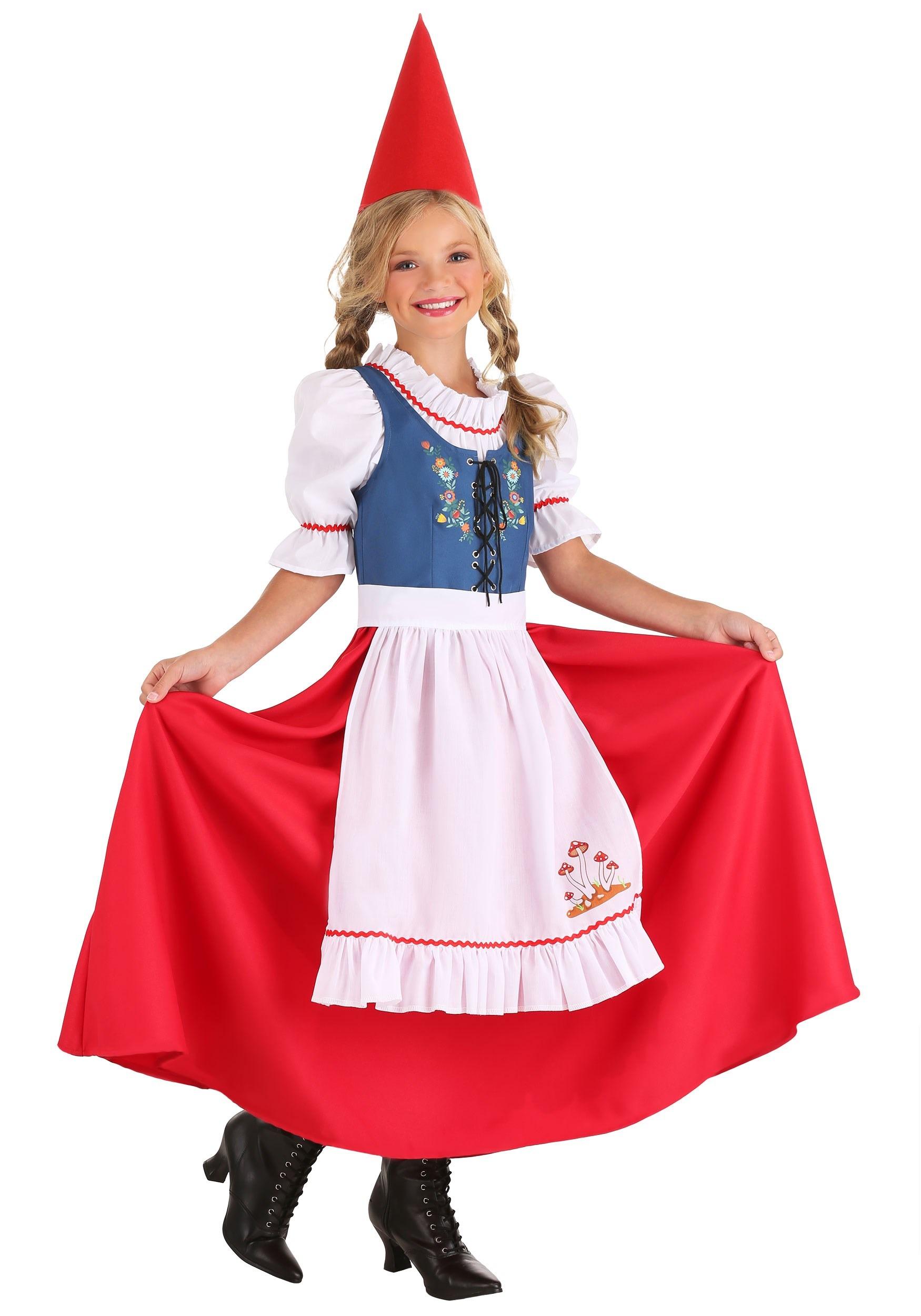 Garden Gnome Costume for Girls