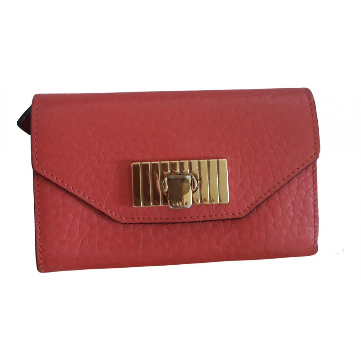 Chloe - Portefeuille   pour femme en cuir - rouge