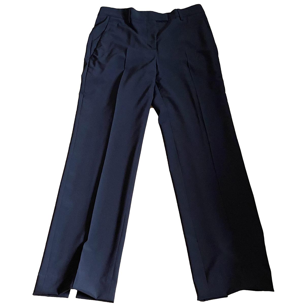 Jil Sander N Black Wool Trousers for Women 38 FR