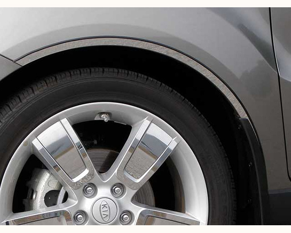 Quality Automotive Accessories 4-Piece Stainless Steel Wheel Well Fender Trim Kit Kia Soul 2013