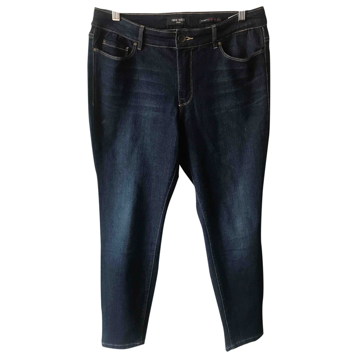 Nine West \N Navy Cotton Jeans for Women 42 FR
