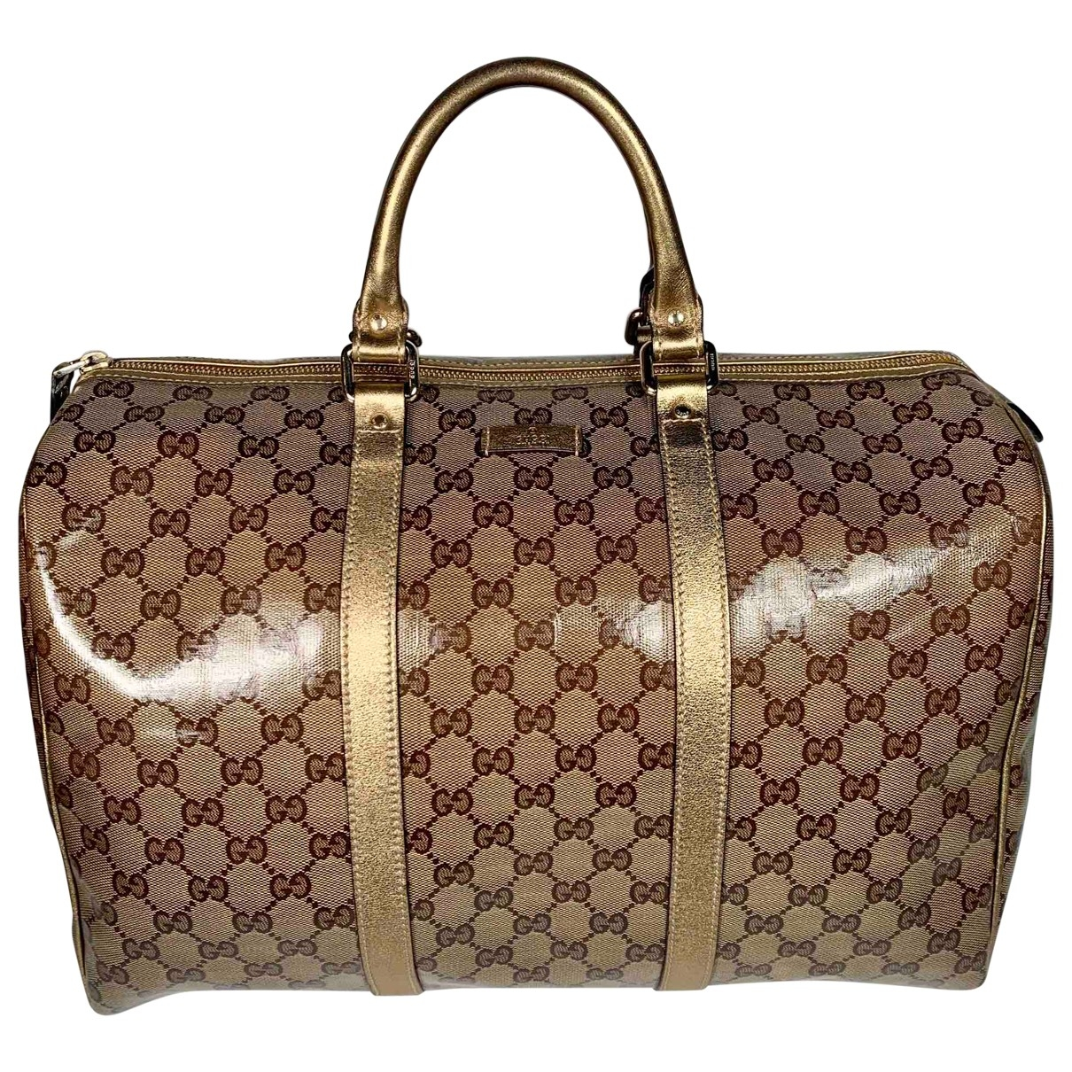 Gucci Boston Gold Cloth handbag for Women \N