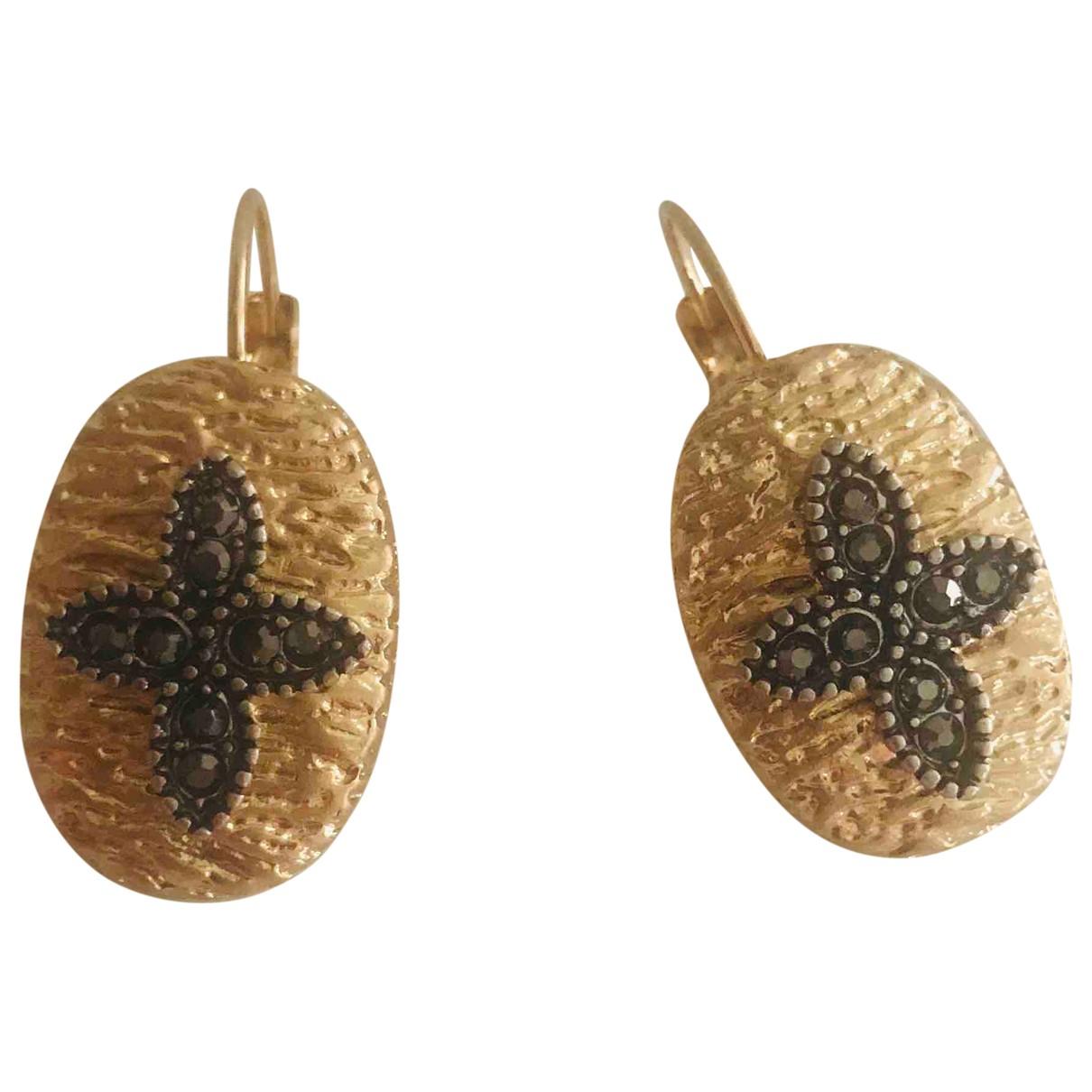No Collection - Boucles doreilles   pour femme en plaque or - dore