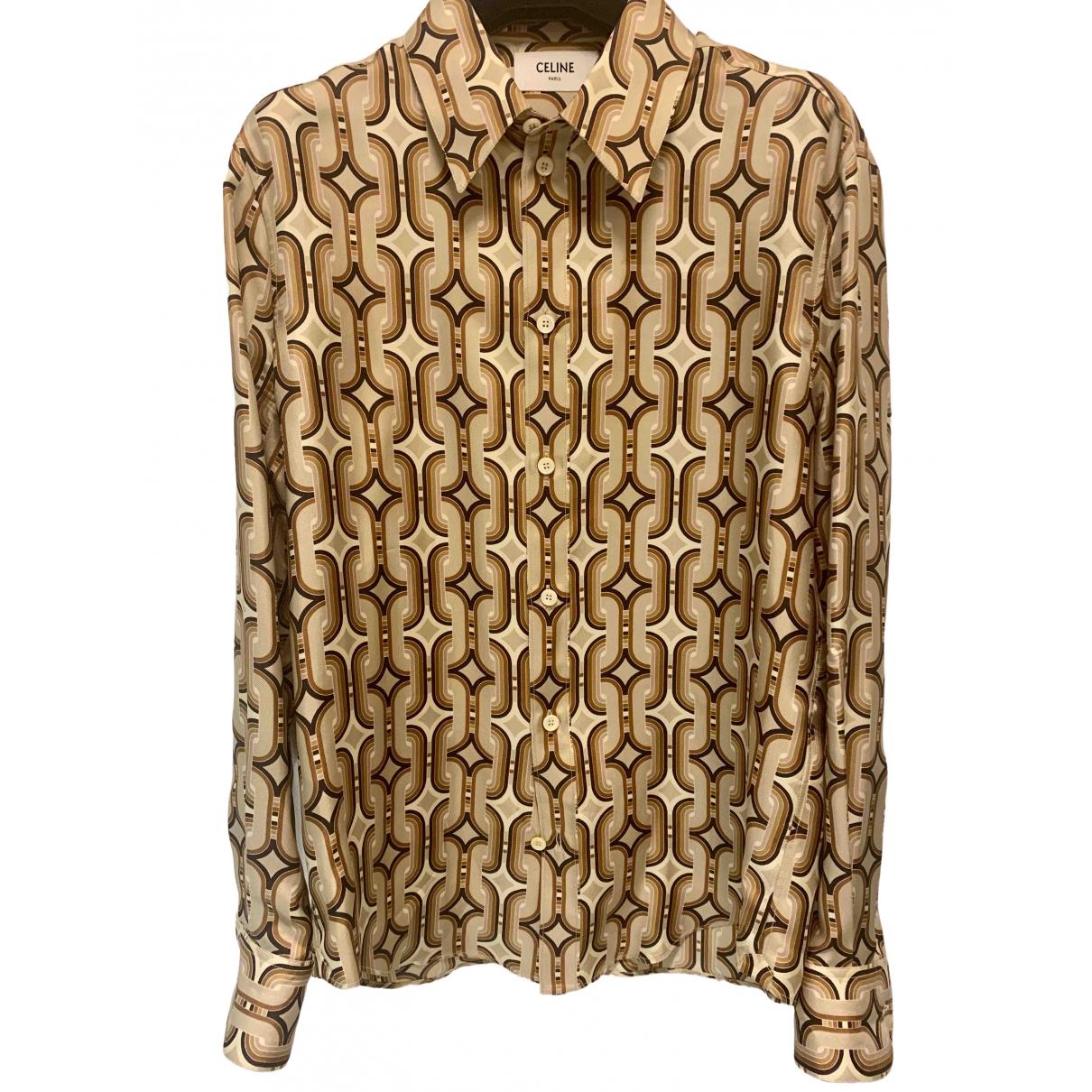 Celine \N Camel Silk  top for Women 36 FR