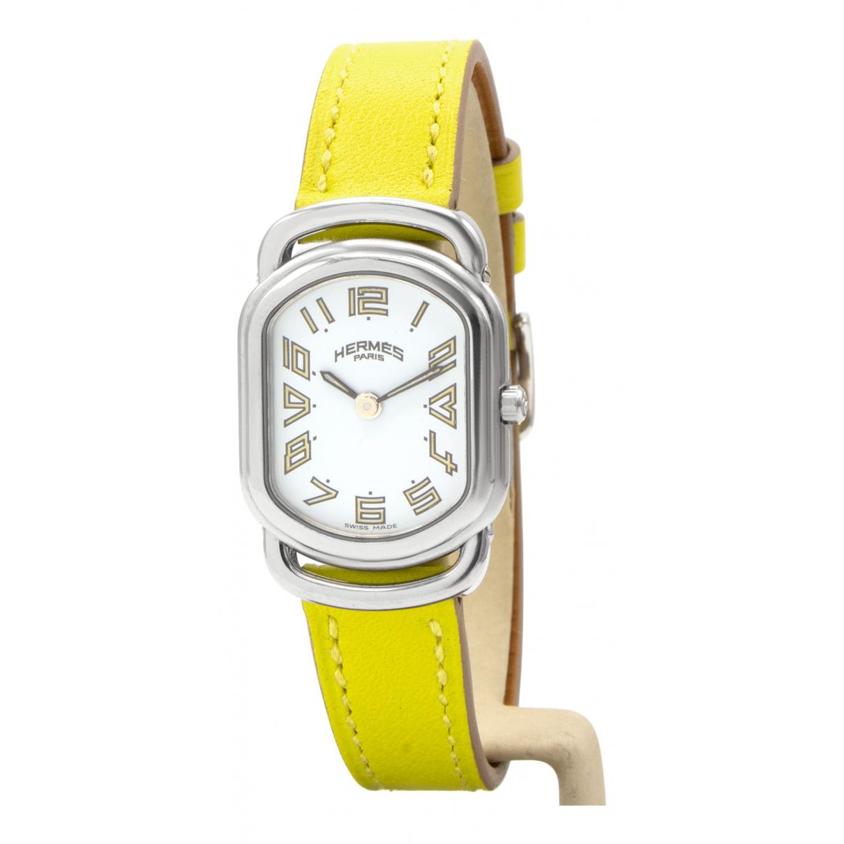 Hermes Rallye Uhr in  Silber Stahl