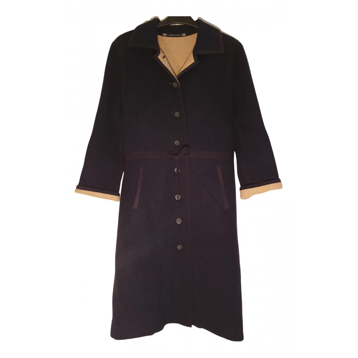 Bogner - Manteau   pour femme en laine - bleu