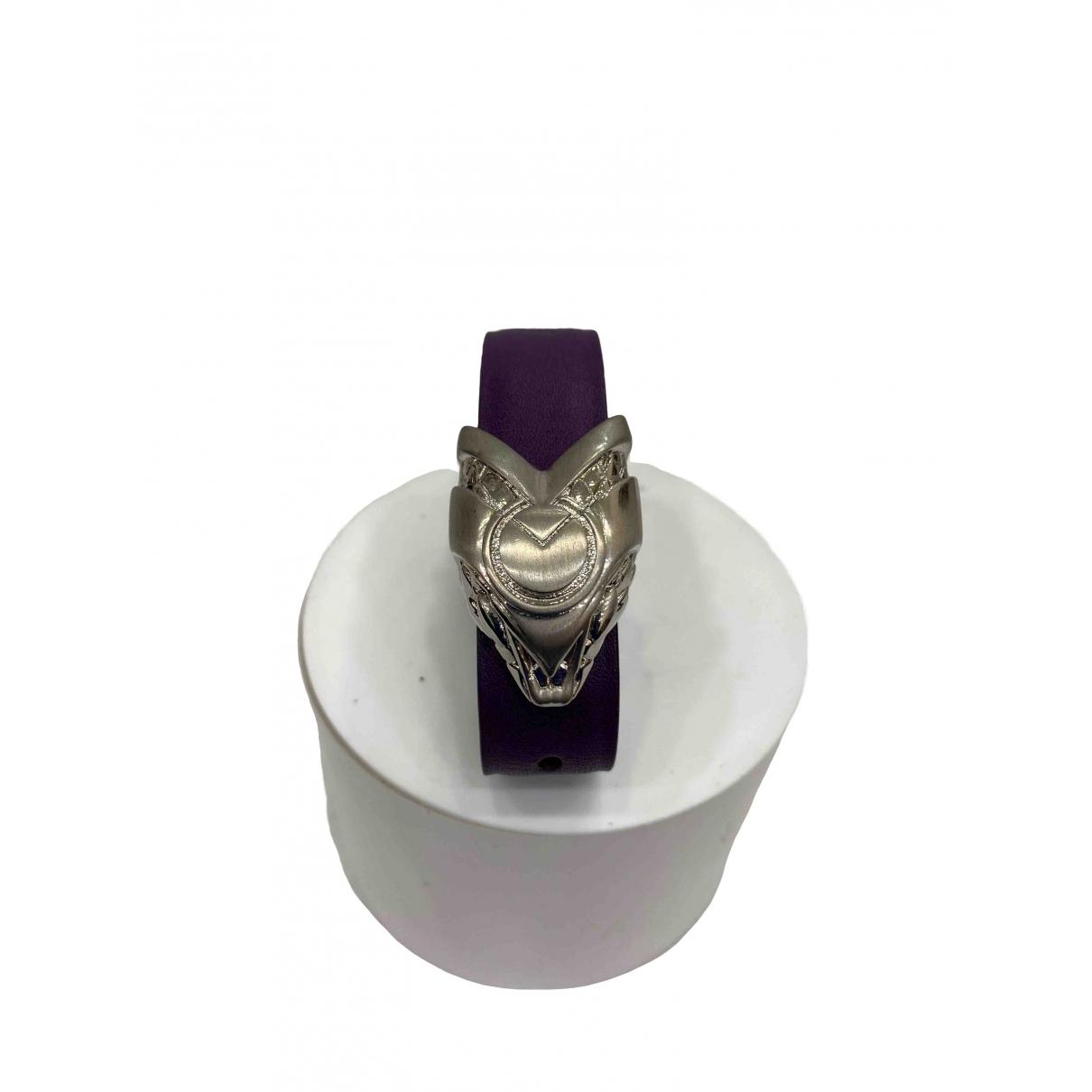 Roberto Cavalli - Bracelet   pour femme en cuir - violet
