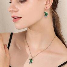 3 Stuecke Jewelry Set mit Kaktus Dekor
