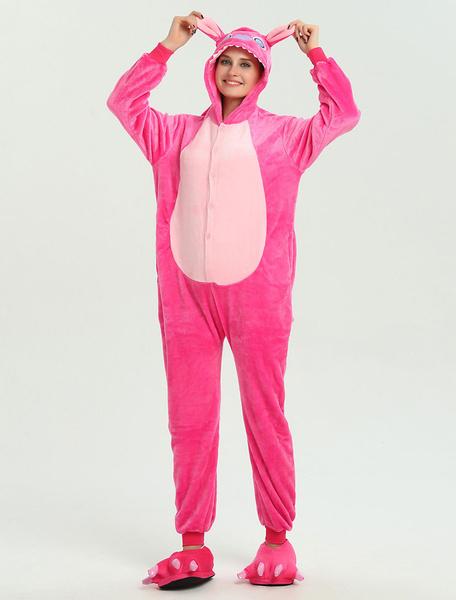 Milanoo Onesie Kigurumi Pajamas Stitch Rose Onesie For Adults Unisex Winter Sleepwear Animal Costume Halloween