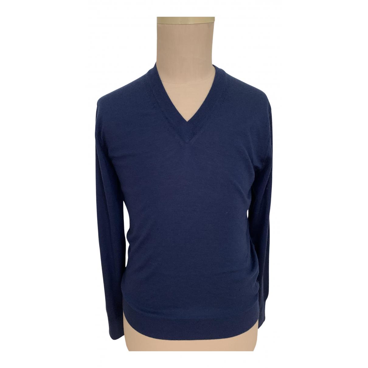Dolce & Gabbana - Pulls.Gilets.Sweats   pour homme en cachemire - bleu