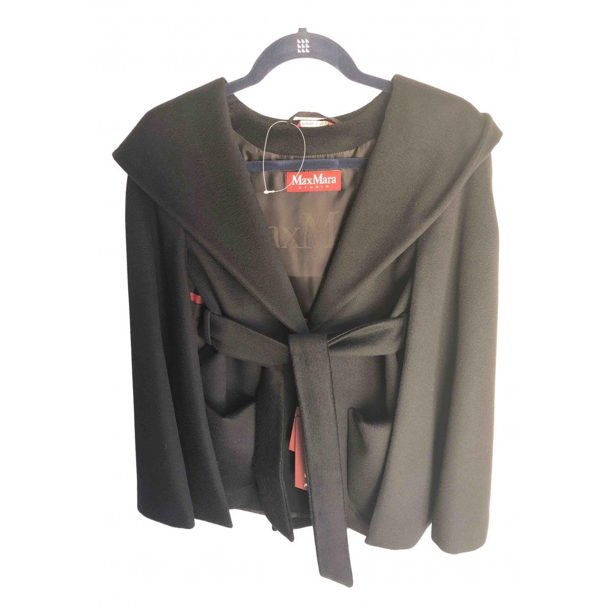 Max Mara Studio N Black Wool coat for Women 6 UK