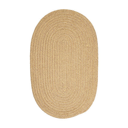 Colonial Mills Modern Trends Chenille Braided Oval Reversible Indoor Rugs, One Size , Yellow