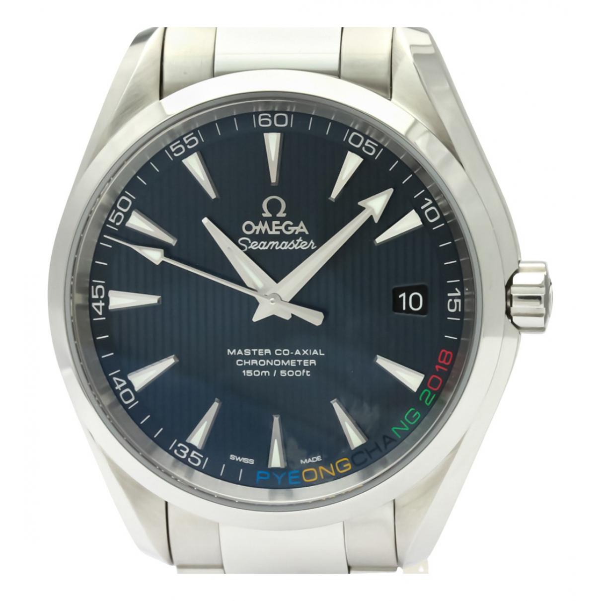 Omega Seamaster Aquaterra Uhr in  Blau Stahl
