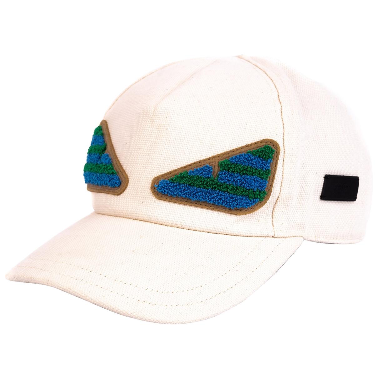 Fendi - Chapeau & Bonnets   pour homme en coton - blanc
