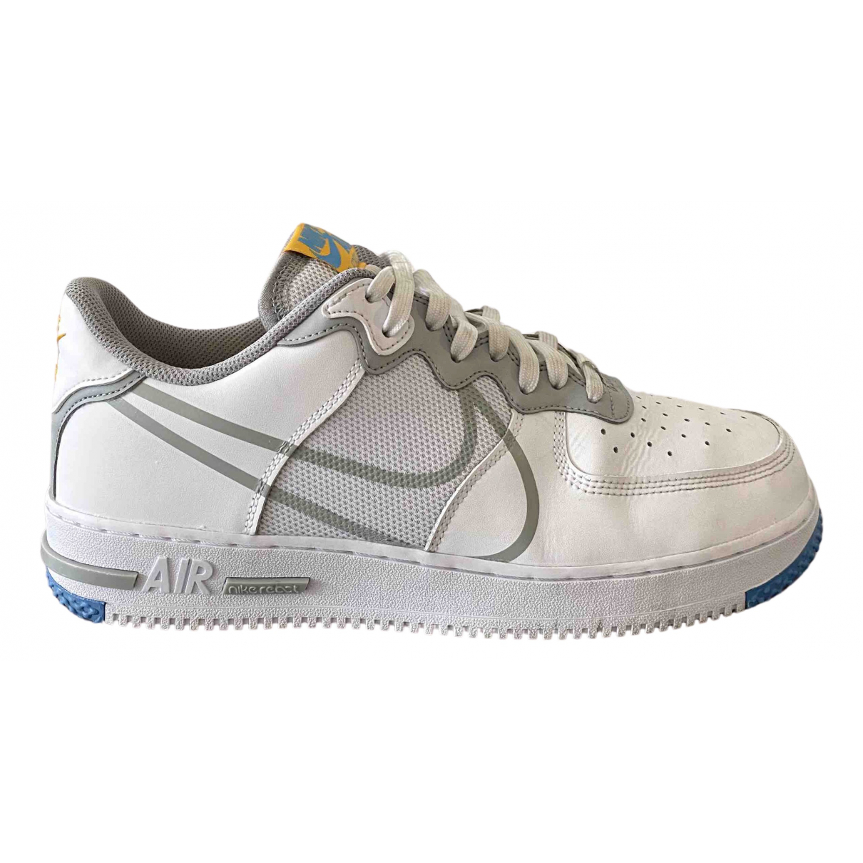 Nike Air Force 1 White Leather Trainers for Men 44.5 EU
