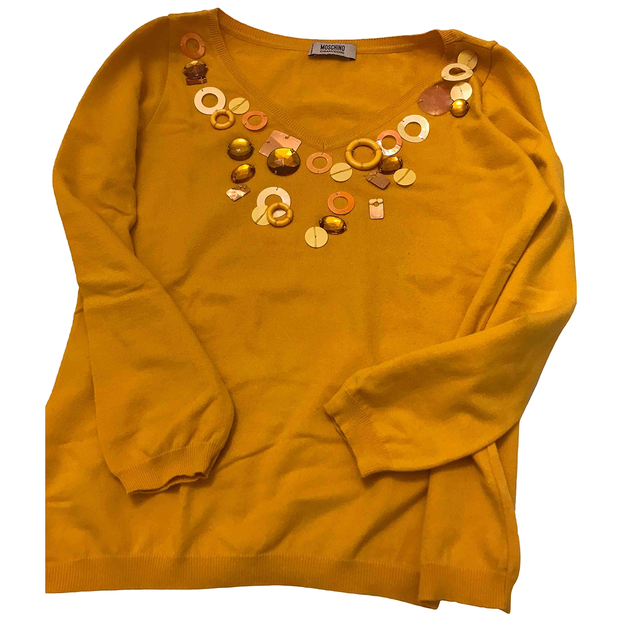 Moschino Cheap And Chic \N Yellow Cotton Knitwear for Women 46 IT