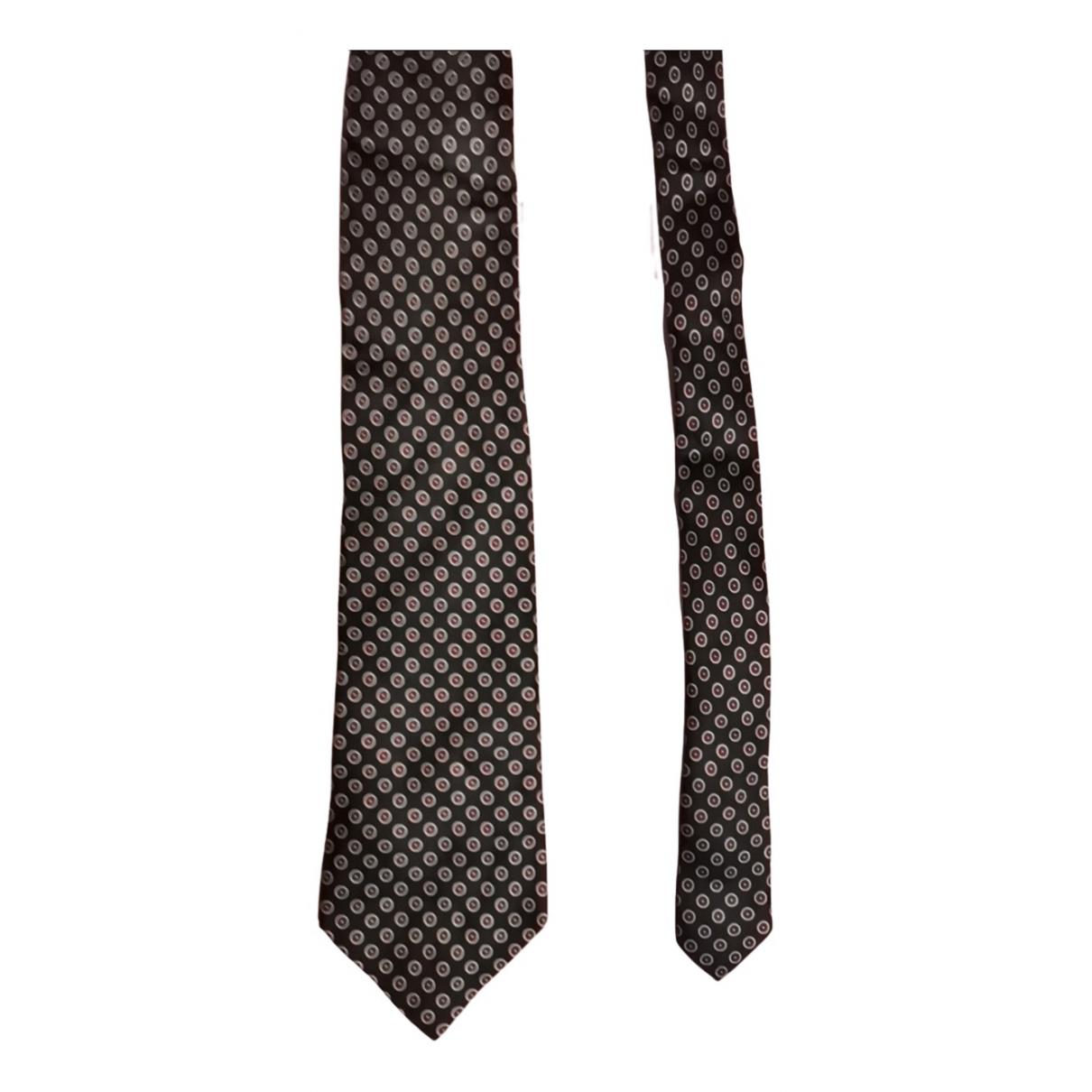 Paco Rabanne N Black Silk Ties for Men N