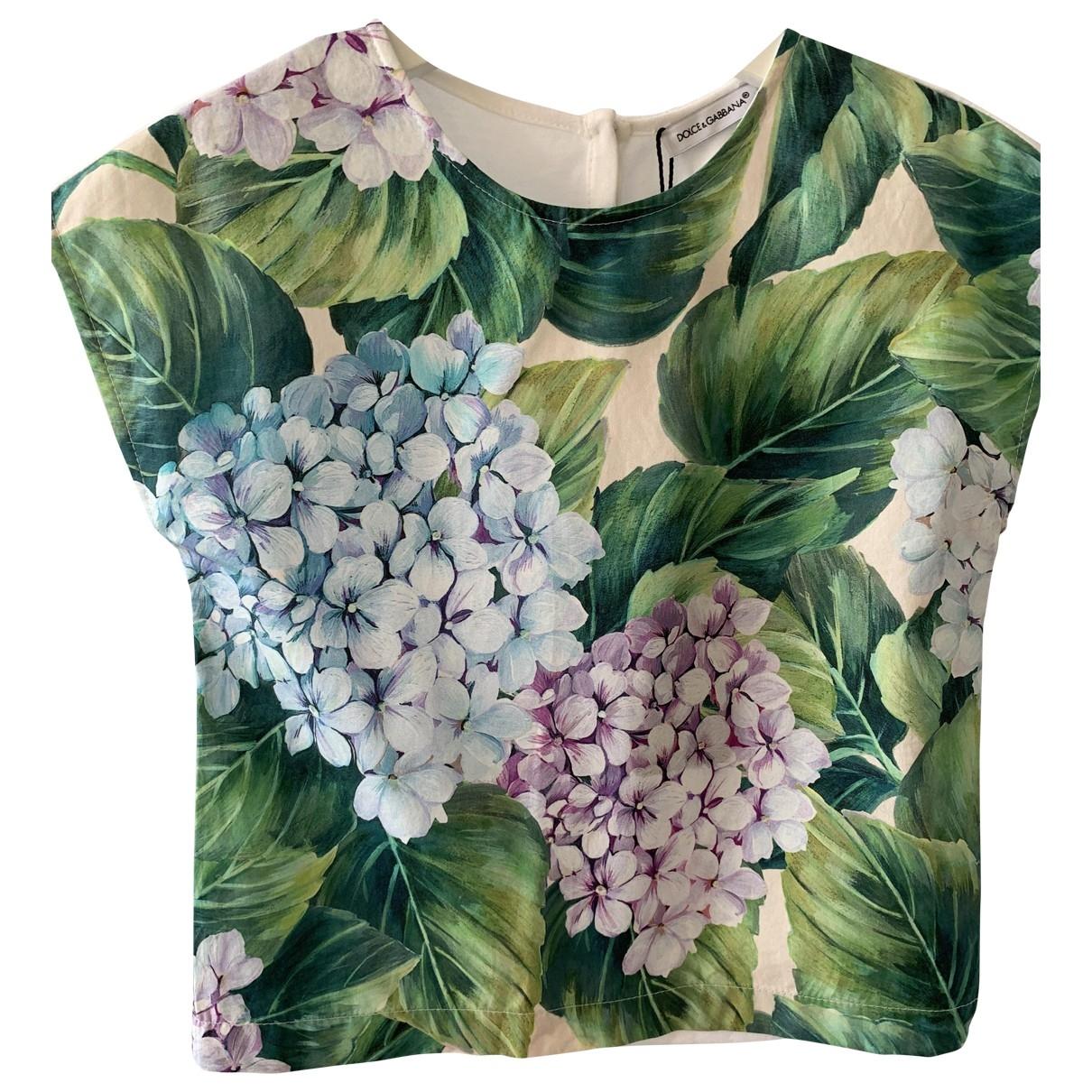 Dolce & Gabbana \N Oberteile in  Bunt Baumwolle
