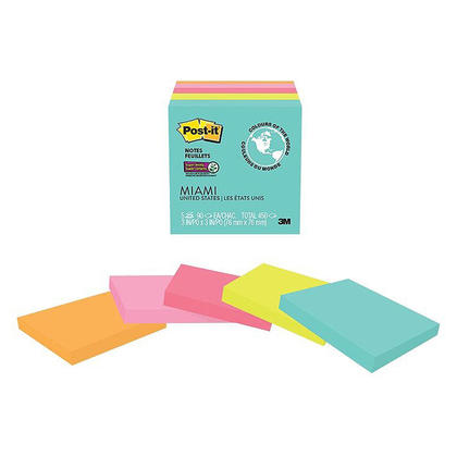 Post-it® Notes super collantes - Collection Miami