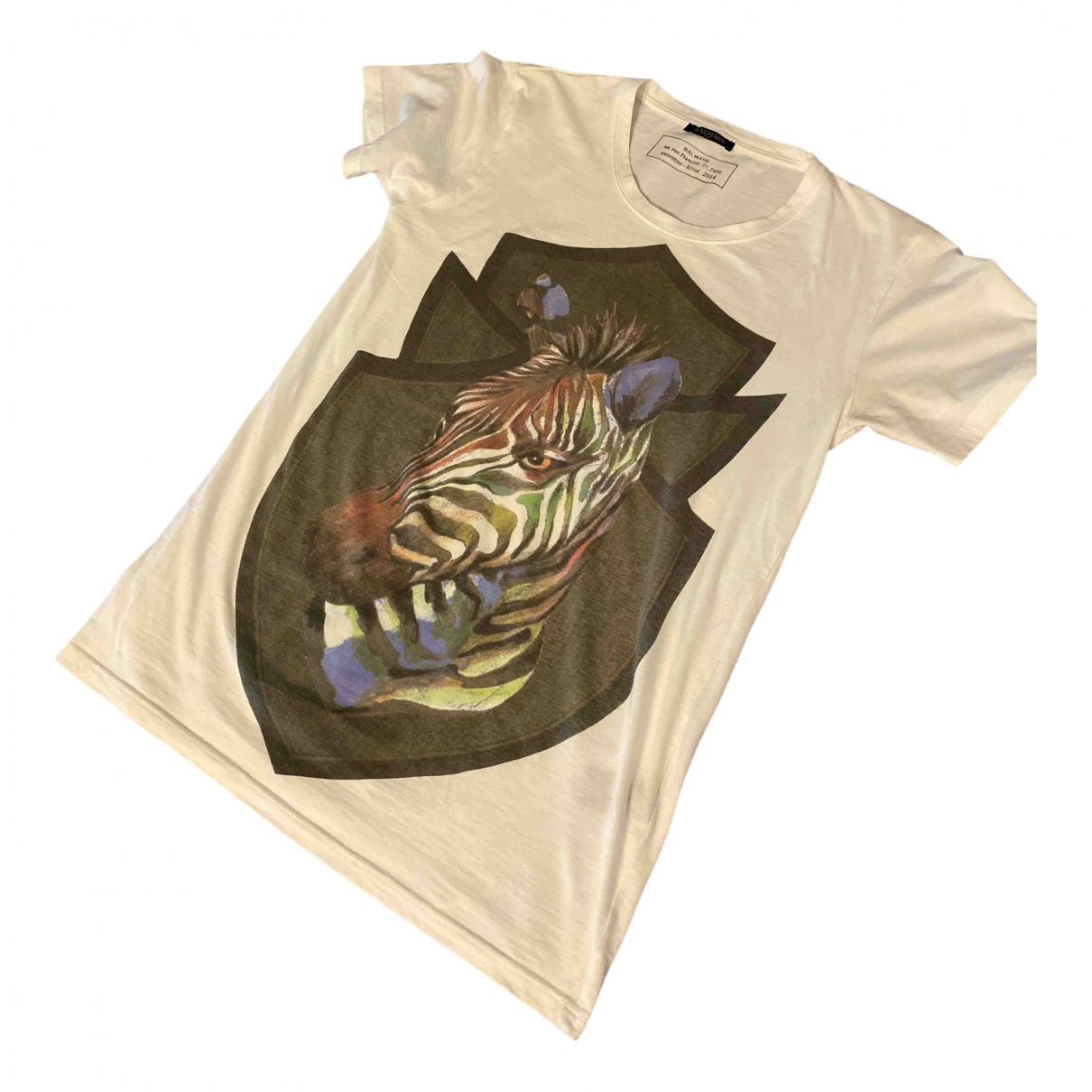 Balmain \N Beige Cotton T-shirts for Men S International