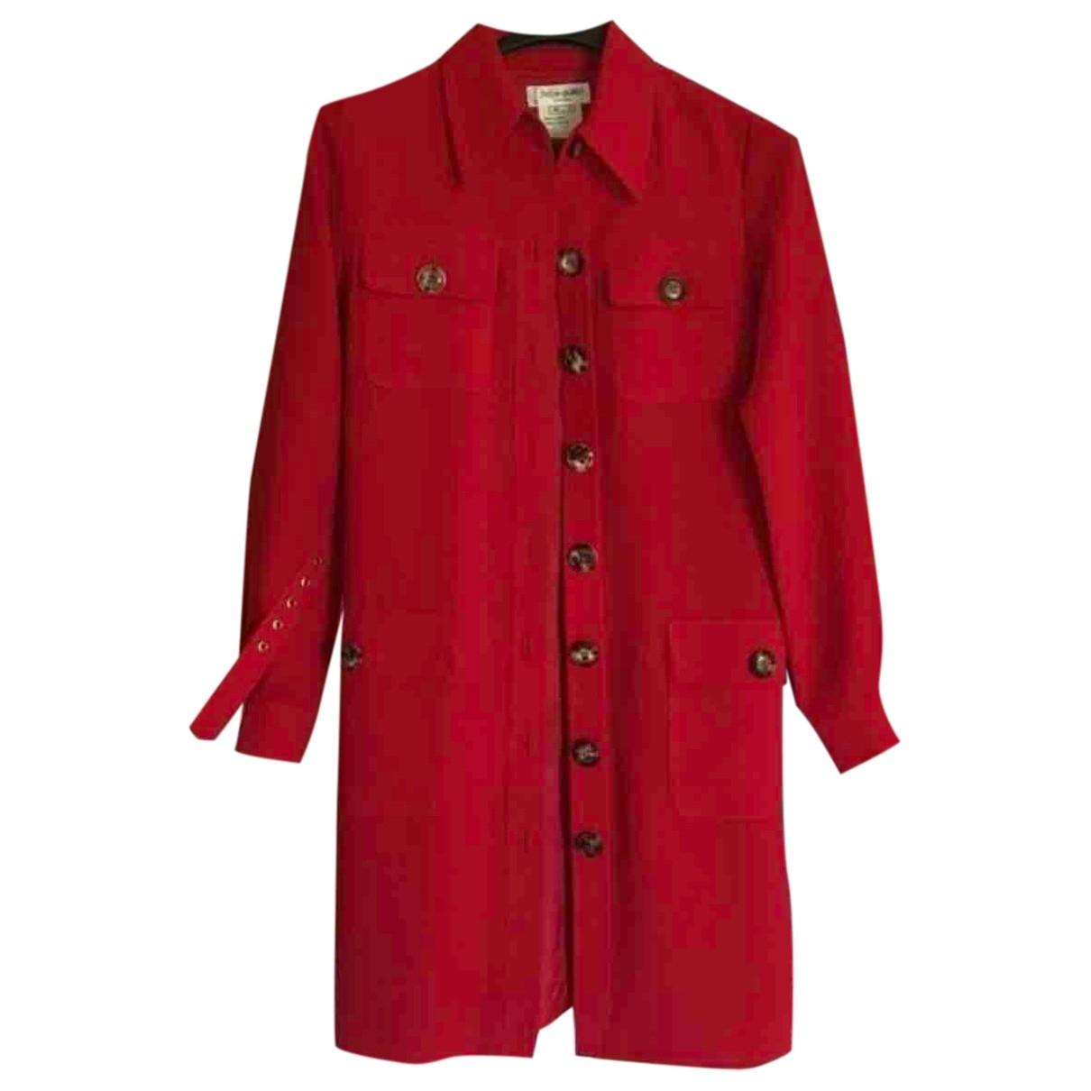 Yves Saint Laurent \N Red Trench coat for Women 40 FR