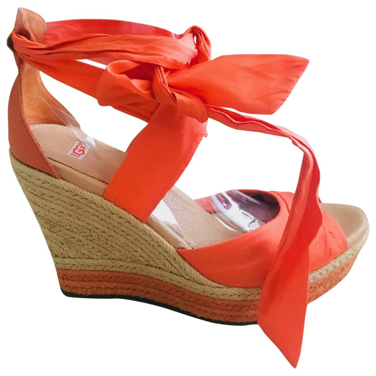 Ugg \N Orange Cloth Sandals for Women 39 EU