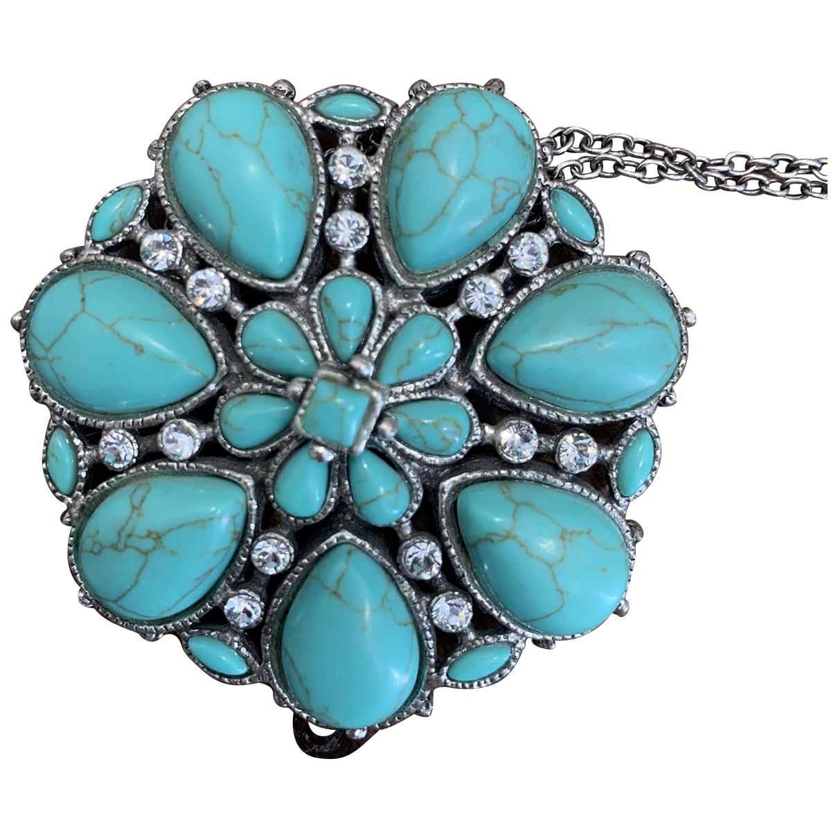 - Collier Turquoises pour femme en acier - bleu