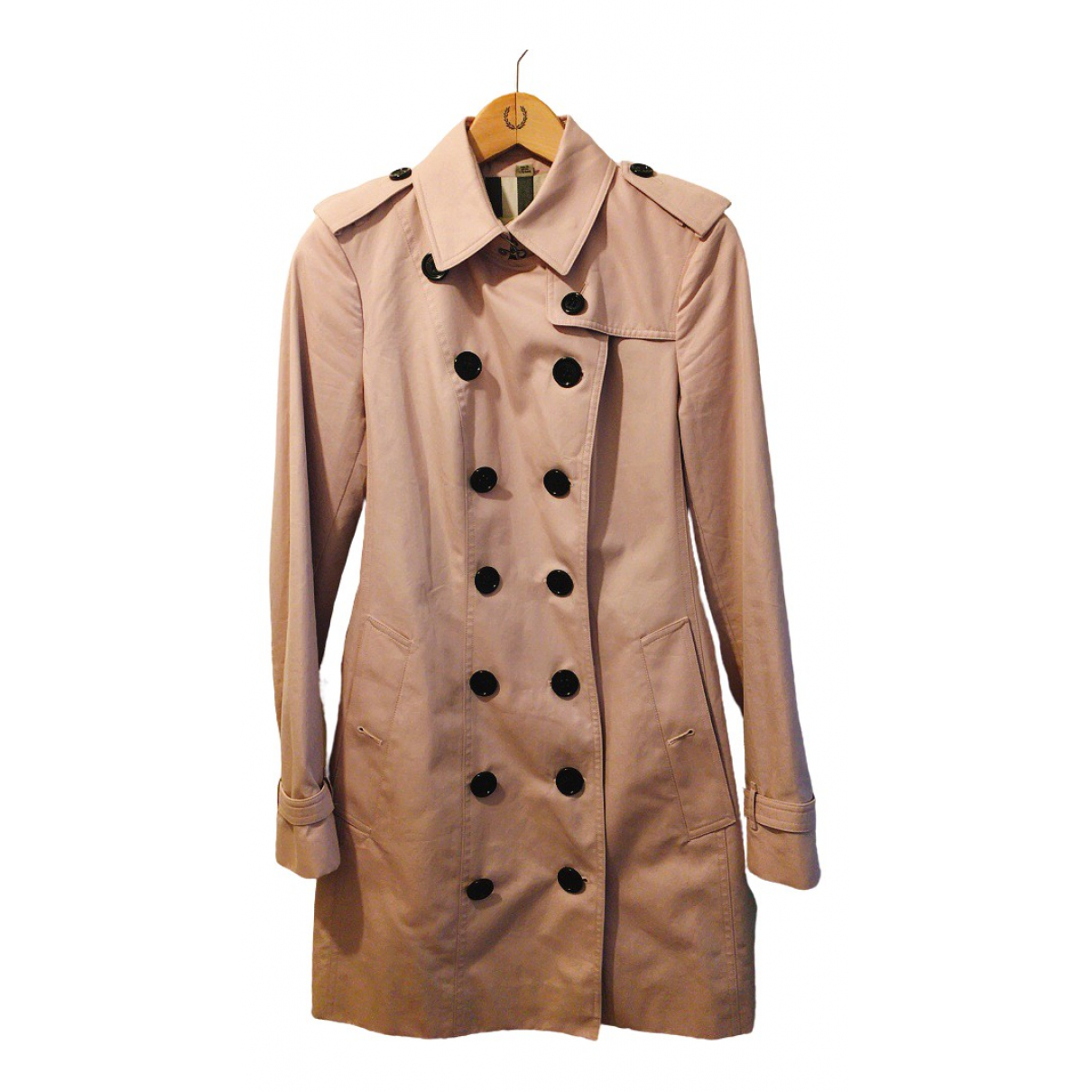 Burberry \N Pink Cotton coat for Women 8 UK