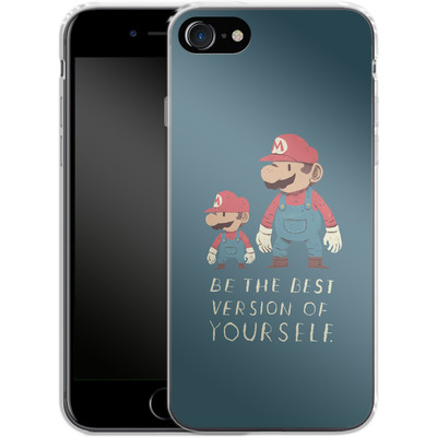 Apple iPhone 8 Silikon Handyhuelle - Be The Best Version of Yourself von Louis Ros