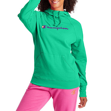 Champion Womens Hooded Neck Long Sleeve Hoodie, Small , Green