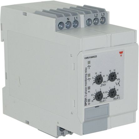 Carlo Gavazzi Phase, Voltage Monitoring Relay With SPDT Contacts, 600 → 690 V ac Supply Voltage, 3, 3+N Phase,