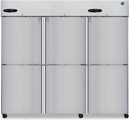 CR3S-HS 83 Commercial Series Reach-In Refrigerator with 73.3 cu. ft. Capacity  3 Sections  115 Volts  8 Gauge Stainless Steel Hinge Plate  and 9