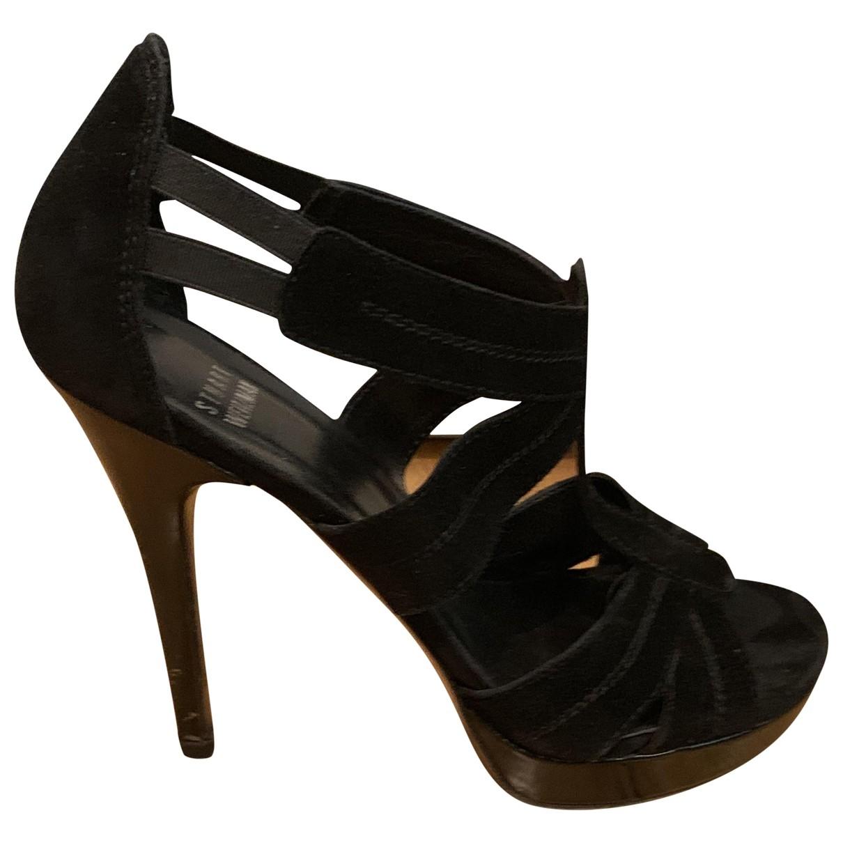 Stuart Weitzman \N Black Suede Sandals for Women 38.5 EU